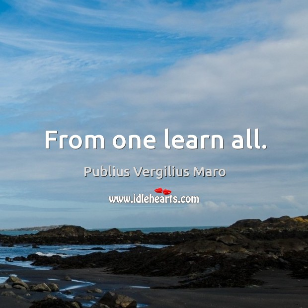From one learn all. Image
