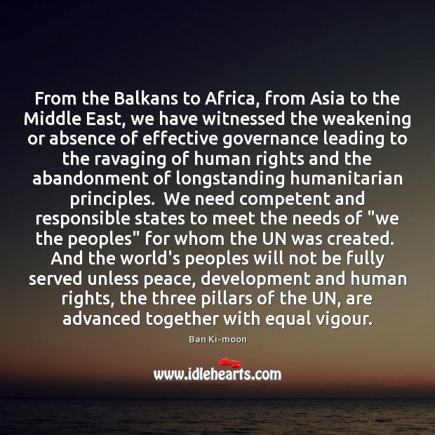 Image, From the Balkans to Africa, from Asia to the Middle East, we