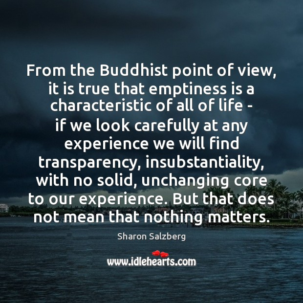 Image, From the Buddhist point of view, it is true that emptiness is