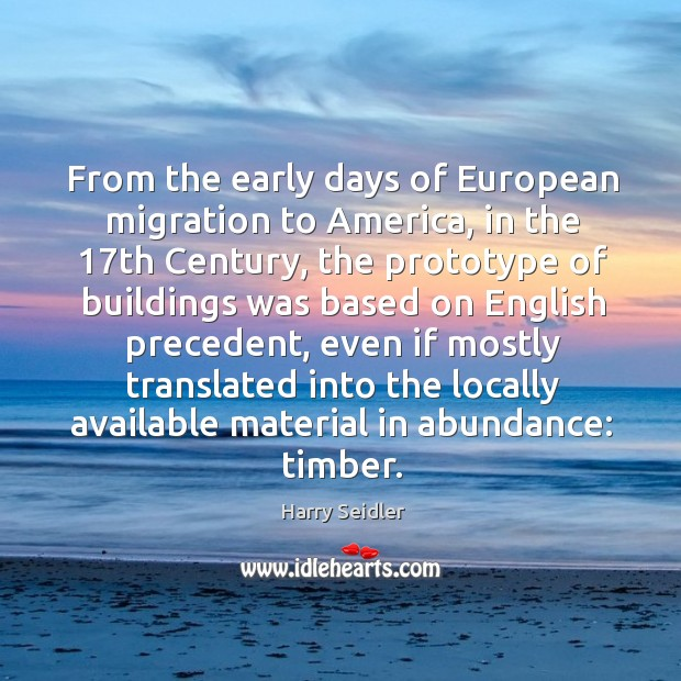 From the early days of european migration to america Image
