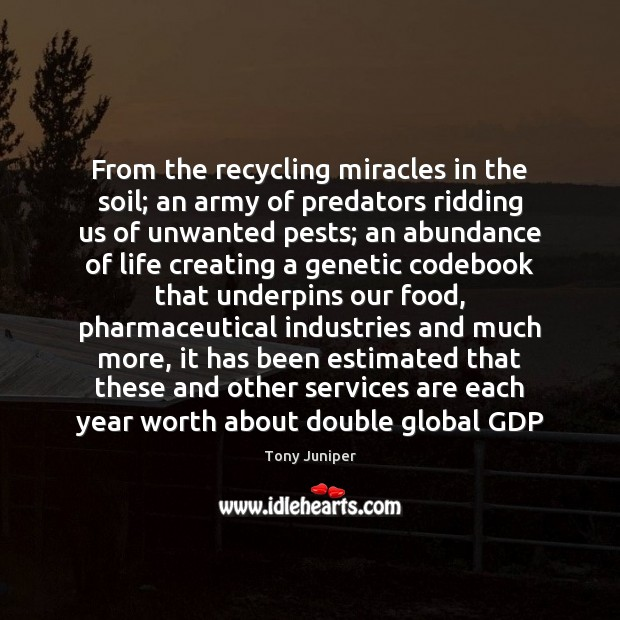 From the recycling miracles in the soil; an army of predators ridding Image