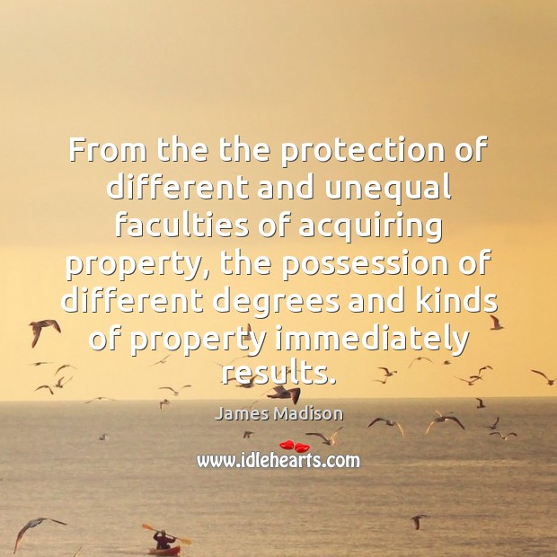 From the the protection of different and unequal faculties of acquiring property, Image