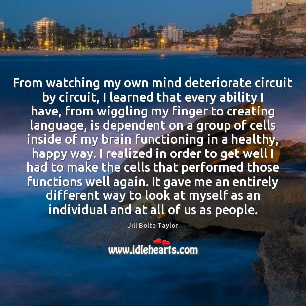 From watching my own mind deteriorate circuit by circuit, I learned that Image