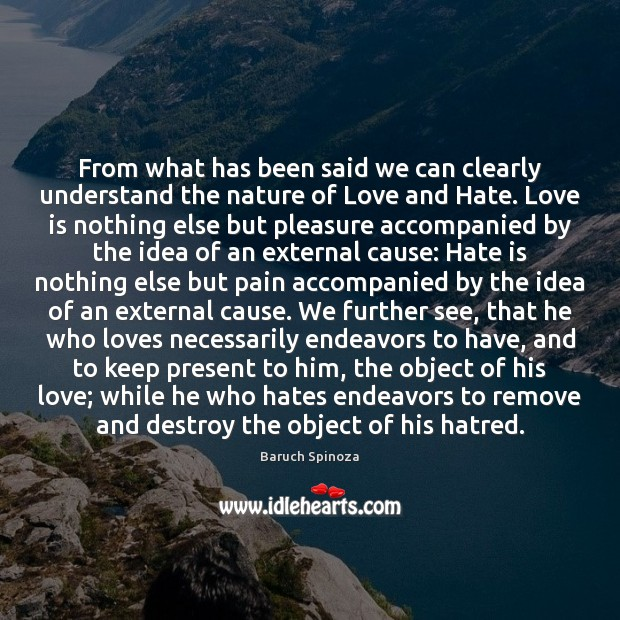 From what has been said we can clearly understand the nature of Love and Hate Quotes Image
