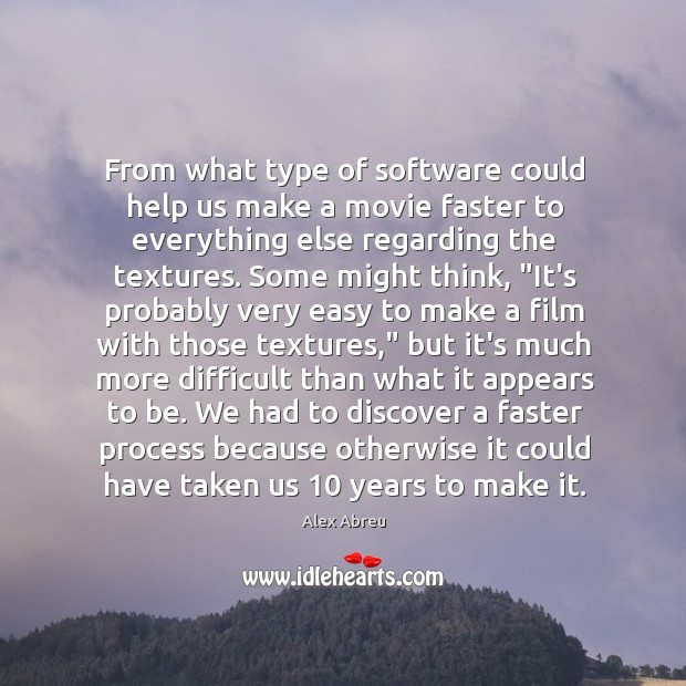 From what type of software could help us make a movie faster Image