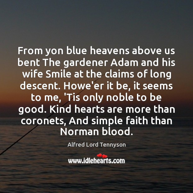 Image, From yon blue heavens above us bent The gardener Adam and his