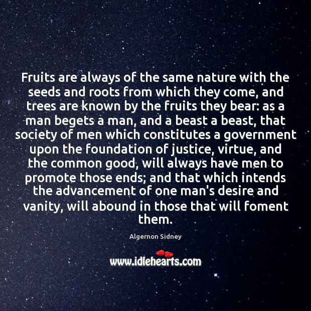 Image, Fruits are always of the same nature with the seeds and roots