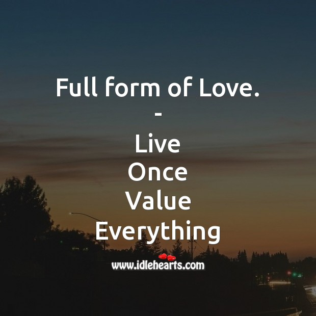 Full form of Love. Love Messages Image