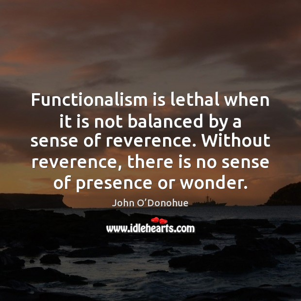Functionalism is lethal when it is not balanced by a sense of Image