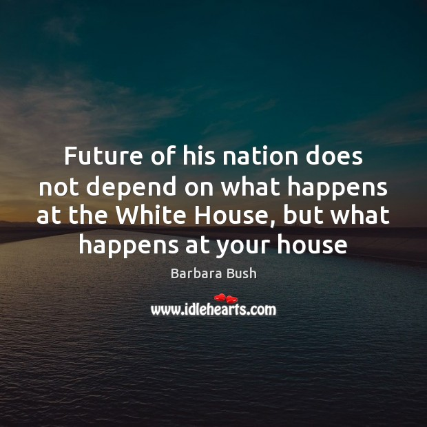 Future of his nation does not depend on what happens at the Image