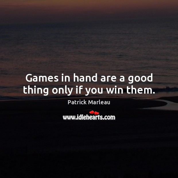 Games in hand are a good thing only if you win them. Image