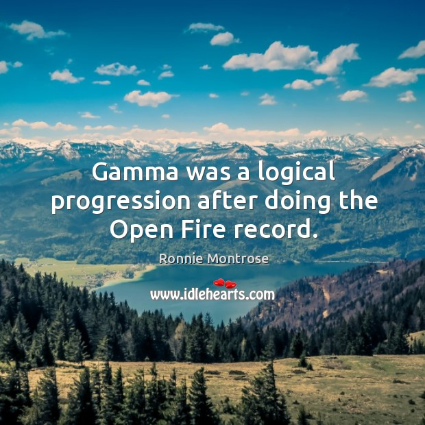 Image, Gamma was a logical progression after doing the open fire record.