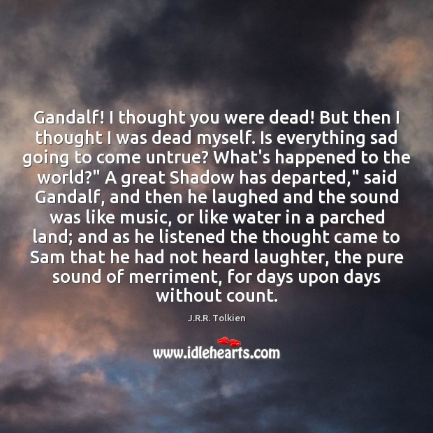Gandalf! I thought you were dead! But then I thought I was Image