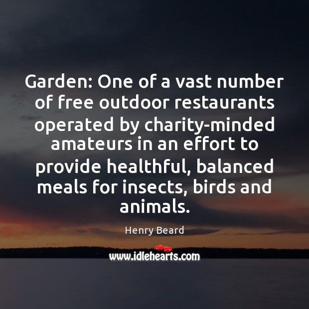 Image, Garden: One of a vast number of free outdoor restaurants operated by