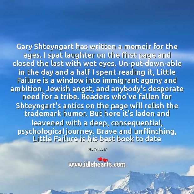 Gary Shteyngart has written a memoir for the ages. I spat laughter Image