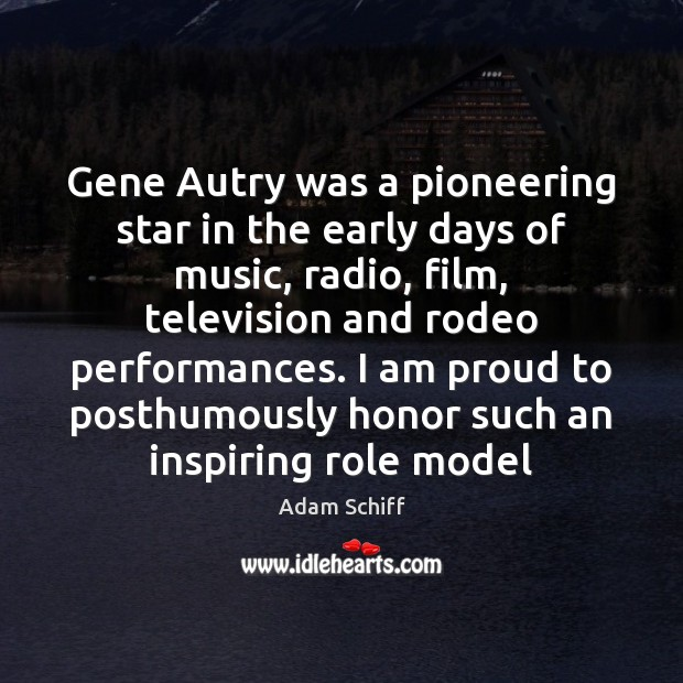 Image, Gene Autry was a pioneering star in the early days of music,