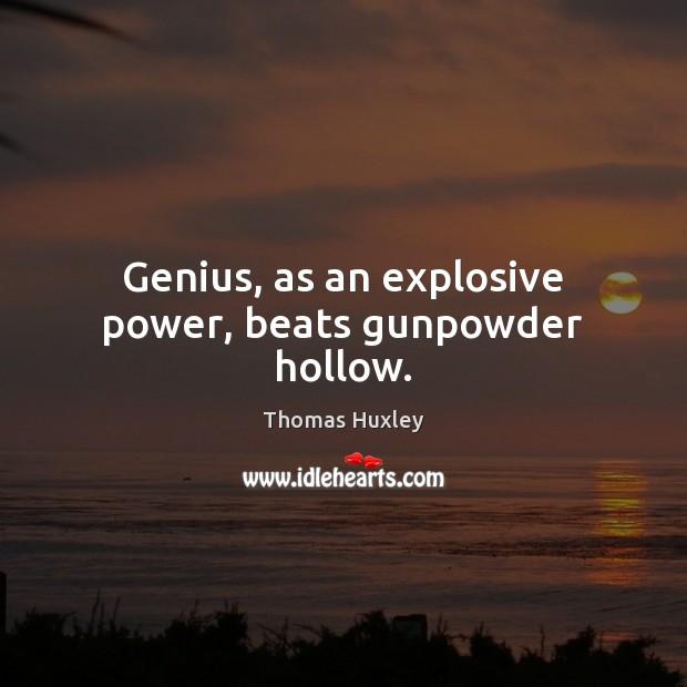 Genius, as an explosive power, beats gunpowder hollow. Image