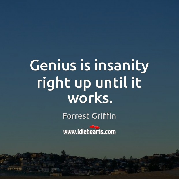 Image, Genius is insanity right up until it works.