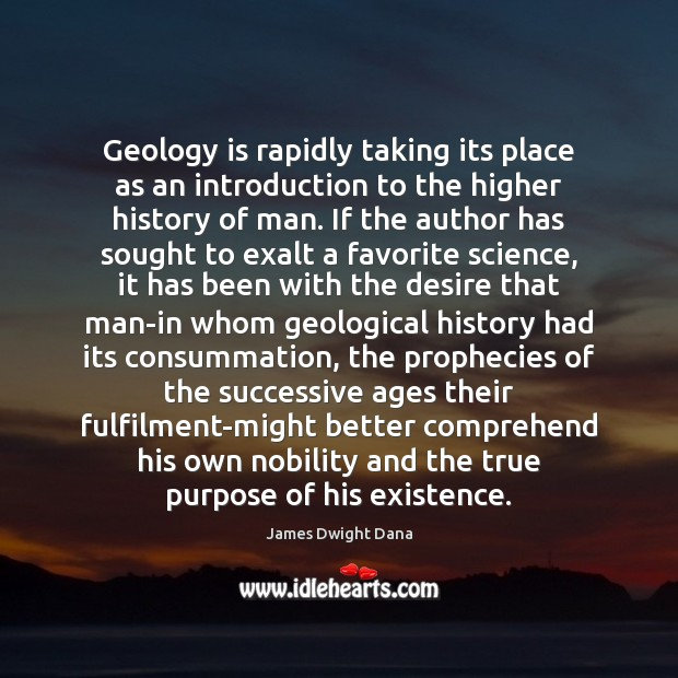 Geology is rapidly taking its place as an introduction to the higher Image