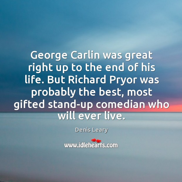 George Carlin was great right up to the end of his life. Image