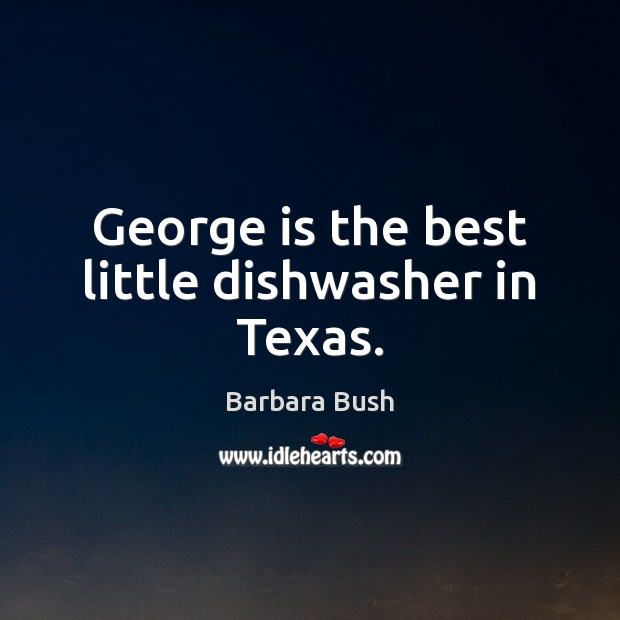 George is the best little dishwasher in Texas. Image