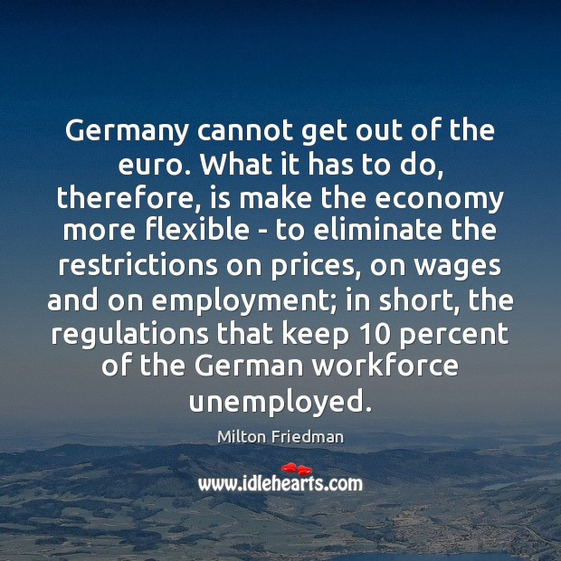Image, Germany cannot get out of the euro. What it has to do,