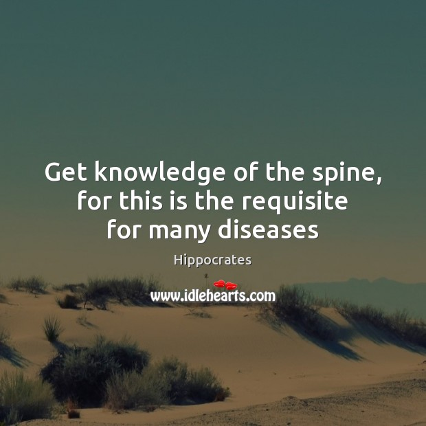 Image, Get knowledge of the spine, for this is the requisite for many diseases
