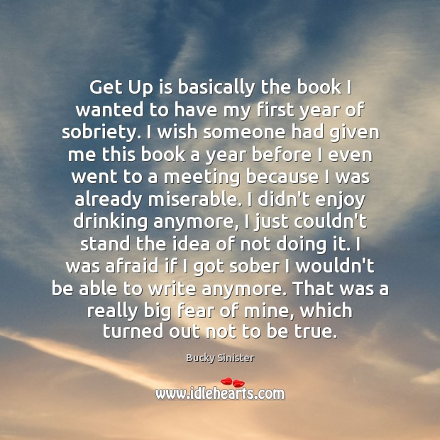 Image, Get Up is basically the book I wanted to have my first