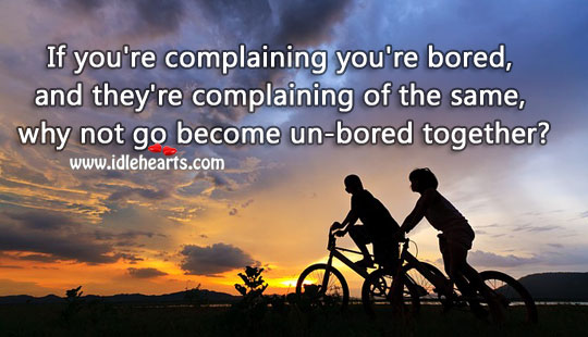 Become un-bored together Relationship Advice Image