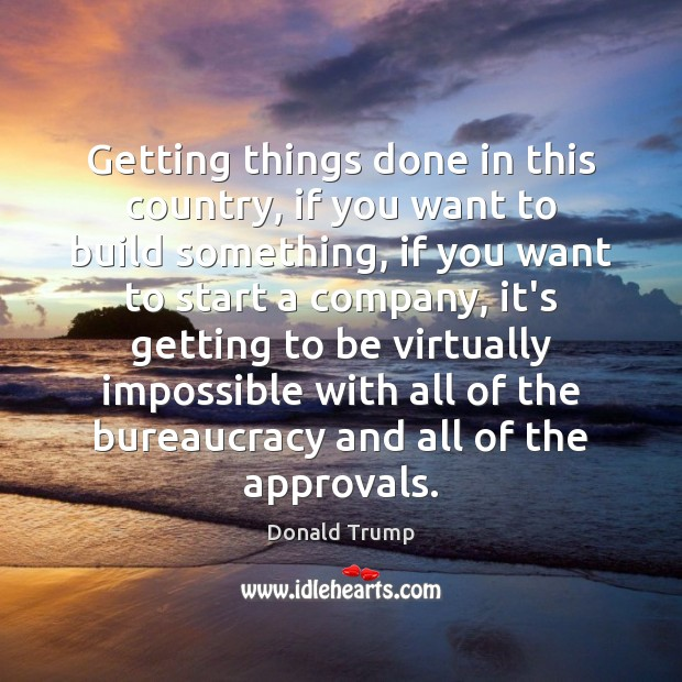 Getting things done in this country, if you want to build something, Image