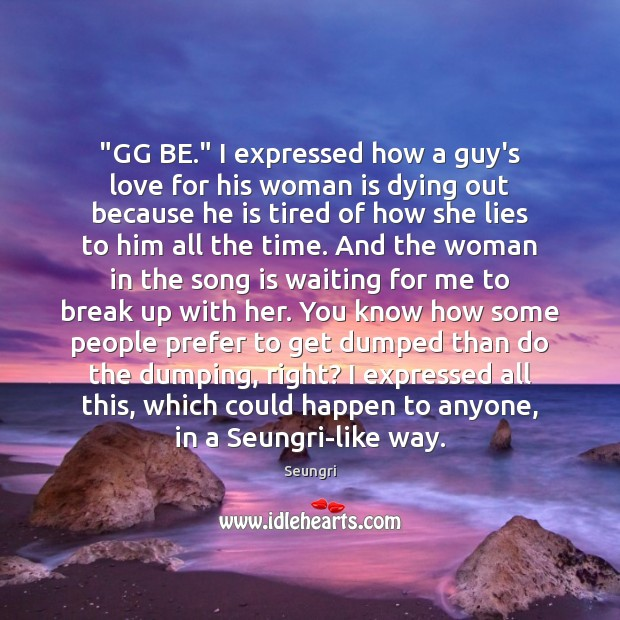 "Image, ""GG BE."" I expressed how a guy's love for his woman is"