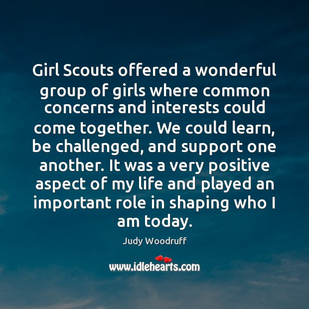 Girl Scouts offered a wonderful group of girls where common concerns and Image