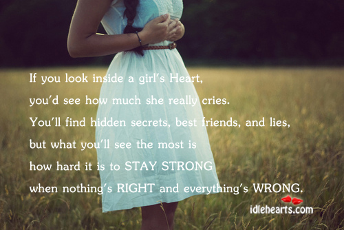 If you look inside a girl's heart…