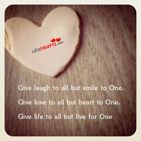 Give Laugh To All But Smile To…