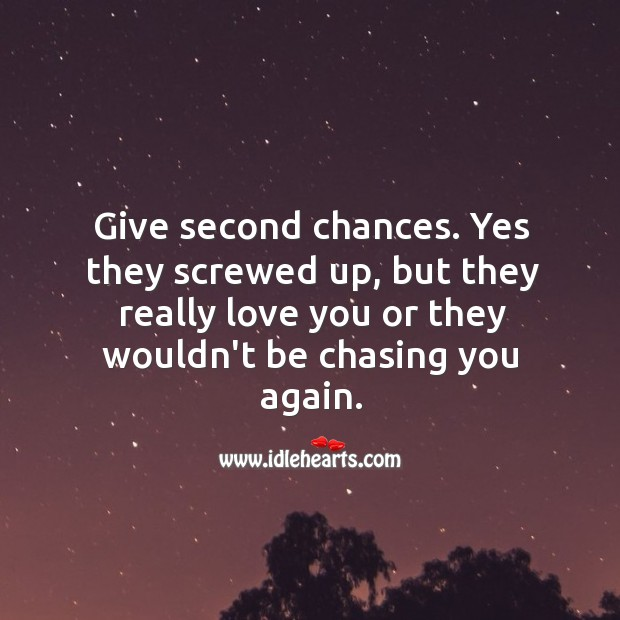 Give second chances to your partner. Image