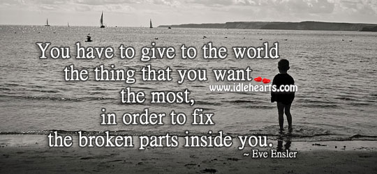 To Fix the Broken Parts Inside.