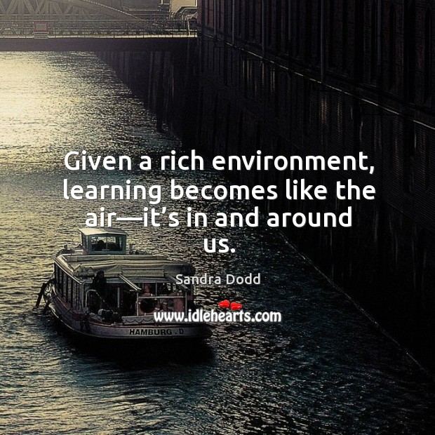 Picture Quote by Sandra Dodd
