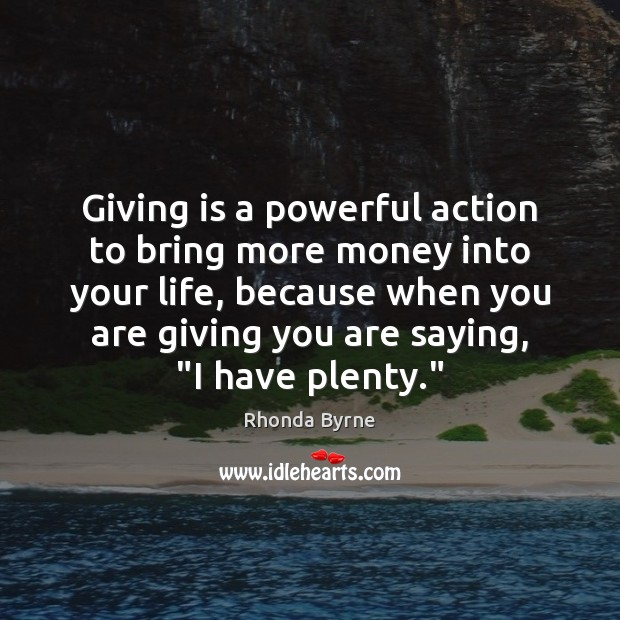 Image, Giving is a powerful action to bring more money into your life,