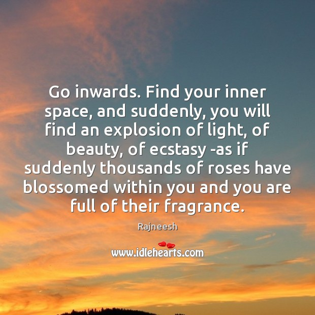 Go inwards. Find your inner space, and suddenly, you will find an Image