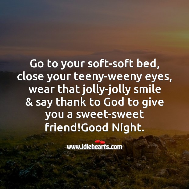 Go to your soft-soft bed Image