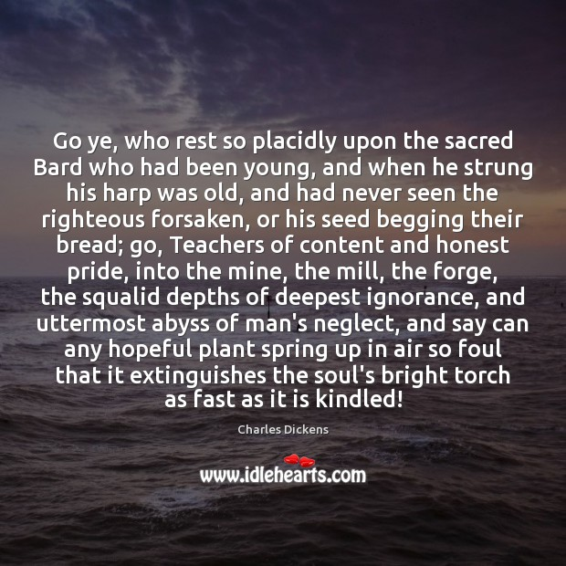 Image about Go ye, who rest so placidly upon the sacred Bard who had