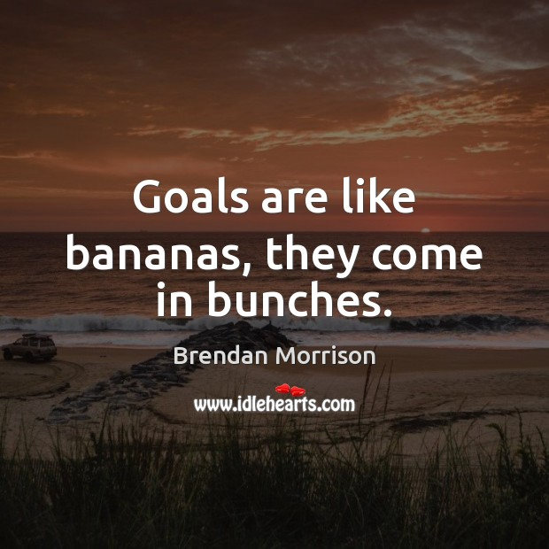Goals are like bananas, they come in bunches. Image
