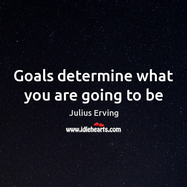 Goals determine what you are going to be Image