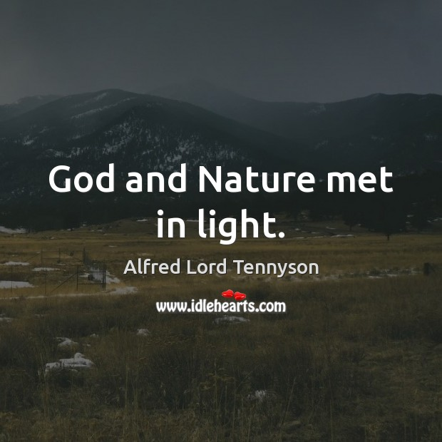 god and nature In any discussion about who and what god is, we must not lose sight of the most important truth about god—that god the father and.