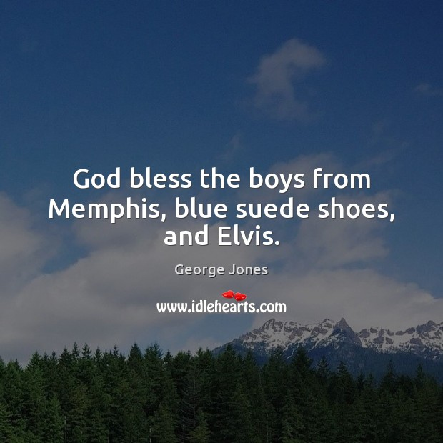 God bless the boys from Memphis, blue suede shoes, and Elvis. Image
