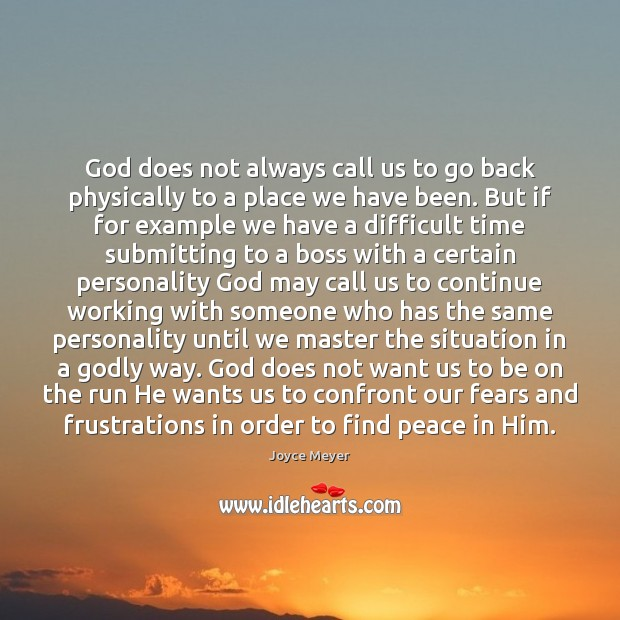 God does not always call us to go back physically to a Image