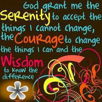 God Grant me The Serenity To Accept…