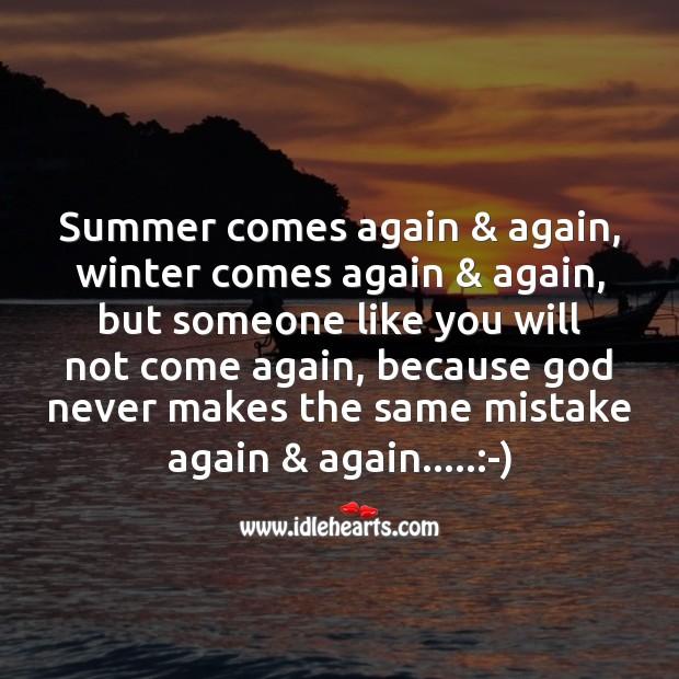 God never makes the same mistake again & again. Image