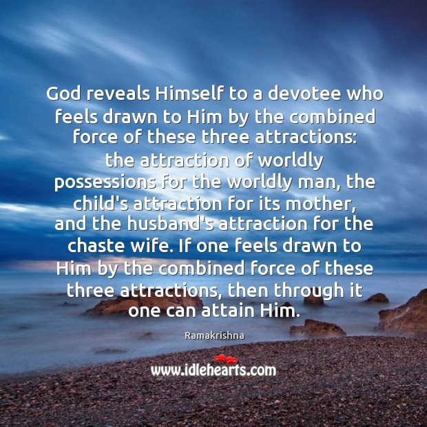 God reveals Himself to a devotee who feels drawn to Him by Image