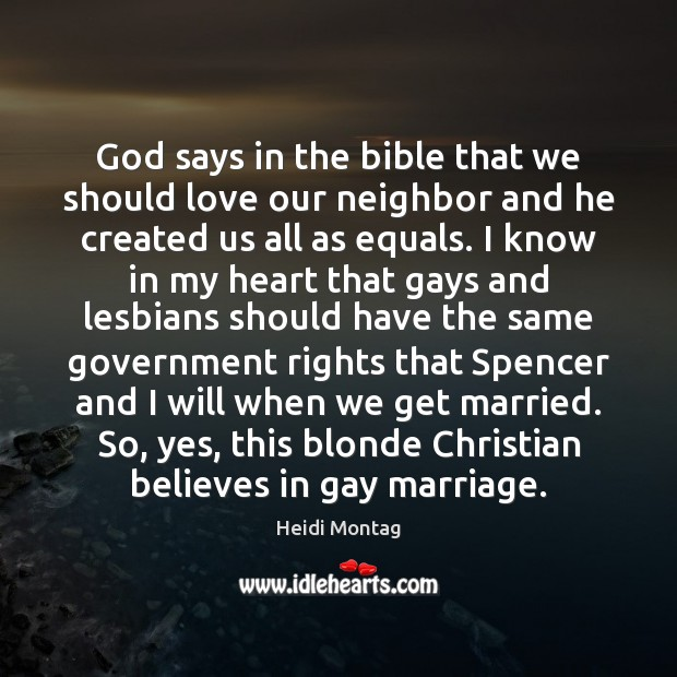 God says in the bible that we should love our neighbor and Image